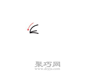 鹦鹉简笔画的画法步骤1