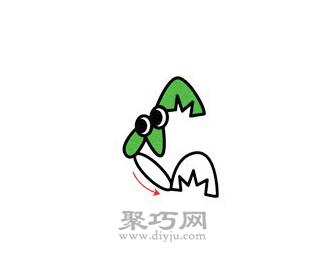 螳螂简笔画的画法步骤3