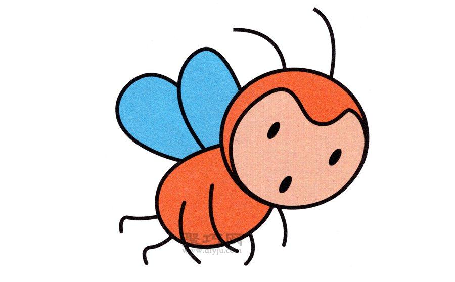 蜜蜂简笔画的画法