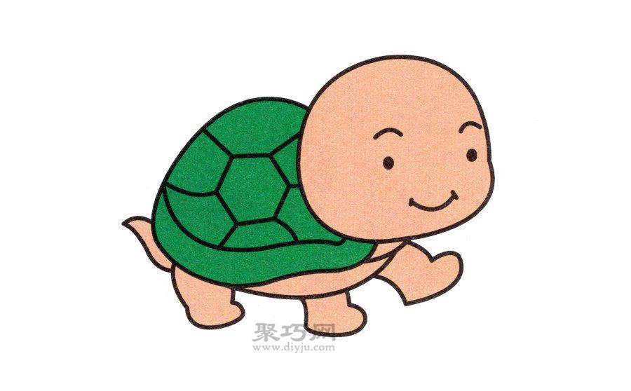 小乌龟简笔画的画法