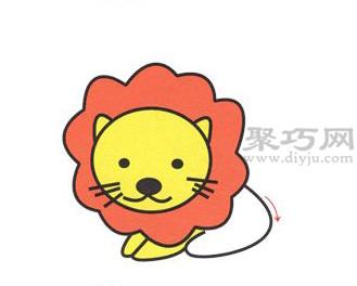 狮子简笔画的画法步骤5