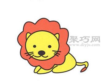 狮子简笔画的画法步骤6