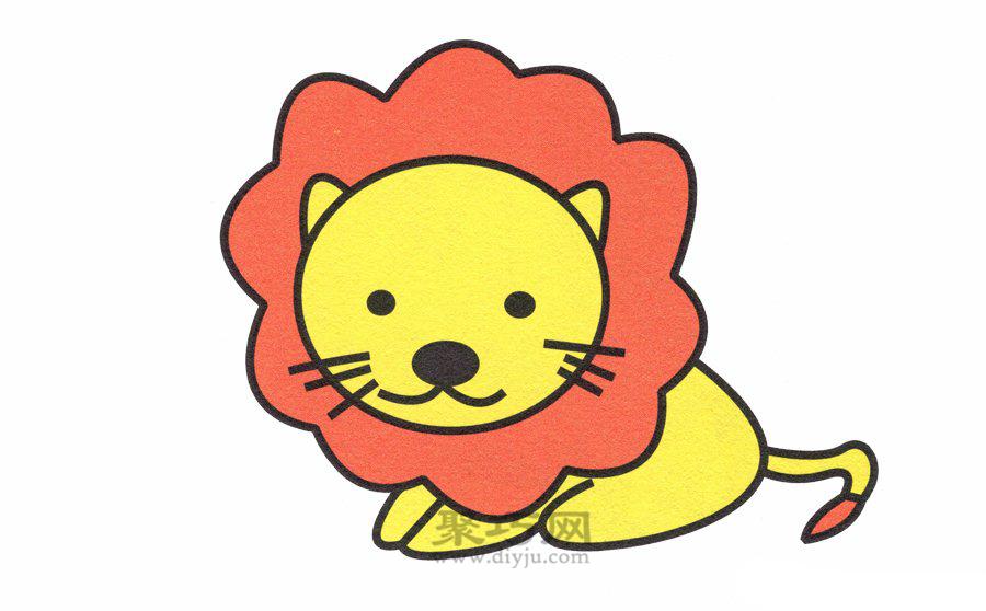 狮子简笔画的画法