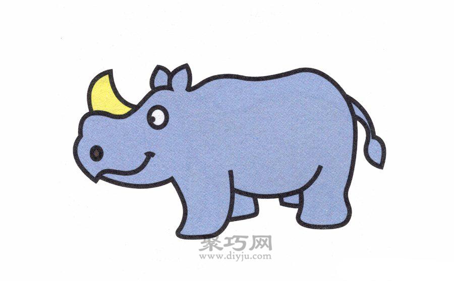 犀牛简笔画的画法