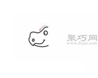 犀牛简笔画的画法步骤1