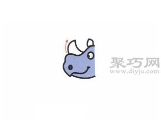 犀牛简笔画的画法步骤2