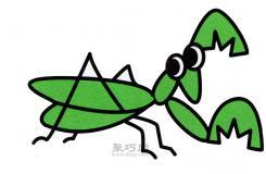 大长腿螳螂怎么画?来看这篇儿童简笔画教程