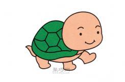 一个动物简笔画法 教你呆头呆脑的小乌龟怎么画最简单