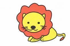 儿童简笔画教程教你如何快速画好动物之王狮子简笔画