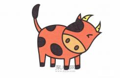 幼儿园简笔画教程一步一步教你奶牛怎么画简单又漂亮