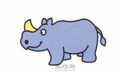 世界上最大的奇蹄目动物犀牛,你知道怎么画简笔画吗?