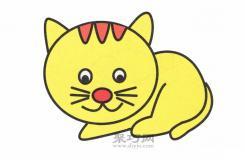 1分钟学会六步画出可爱的卡通猫简笔画!