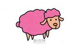 适合儿童的简笔画小绵羊怎么画简单又漂亮