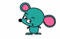 幼儿园简笔画教程教你如何在2分钟内学会画站立的卡通老鼠