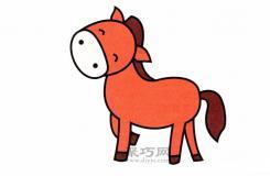 小朋友最喜欢的卡通动物小马简笔画最简单的画法