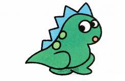 超卡通的简笔画教程,让你分分钟学会画可爱的小恐龙!