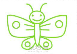 花蝴蝶简笔画的画法