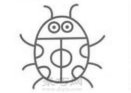 瓢虫简笔画的画法步骤4