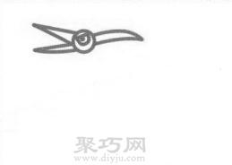 翼龙简笔画的画法步骤2
