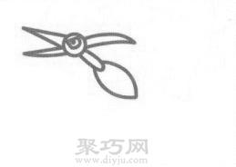 翼龙简笔画的画法步骤3