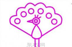 美丽漂亮的孔雀怎么画? 来看这篇孔雀儿童简笔画教程