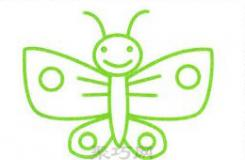 儿童简笔画蝴蝶的画法 教你花蝴蝶怎么画漂亮又简单