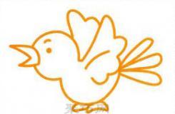 展翅飞翔的小鸟简笔画画法 教你小鸟怎么画简单又好看