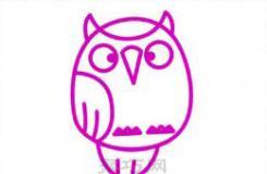 儿童简笔画教程 教你怎么画一只可爱的猫头鹰