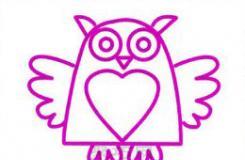 可爱的卡通猫头鹰简笔画画法教程图解