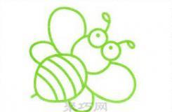 蜜蜂怎么画简单好看?这篇简笔画教程教你4步画大眼睛小蜜蜂