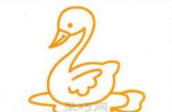 天鹅怎么画简单又漂亮?看看这篇画天鹅的简笔画