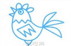 想画简单又漂亮的大公鸡?这篇简笔画教程教你怎么画