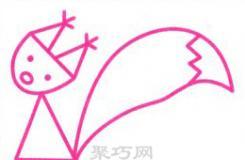 既好看又简单 可爱的萌萌小松鼠的简笔画画法