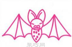 蝙蝠简笔画教程 教你怎么画世界上唯一能飞的哺乳动物