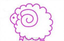 可爱的小绵羊怎么画?这篇毛绒绒的小绵羊简笔画教会你