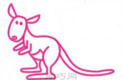 小学三年级画袋鼠的简笔画教程