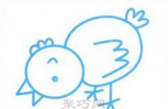 低头吃米小鸡简笔画 这也许是画小鸡的最简单画法