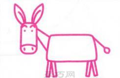 小毛驴的简笔画图片教程 非常适合小朋友学画画