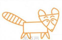适合儿童的小浣熊简笔画怎么画最简单又可爱