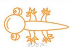 幼儿园简笔画教程一步一步教你小壁虎怎么画