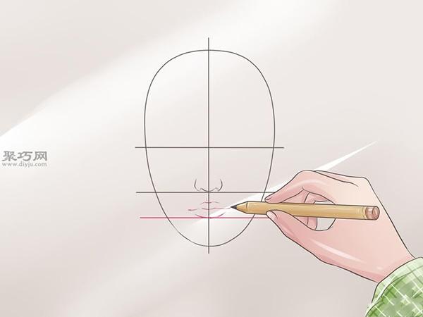 女性脸部素描画法教程 4