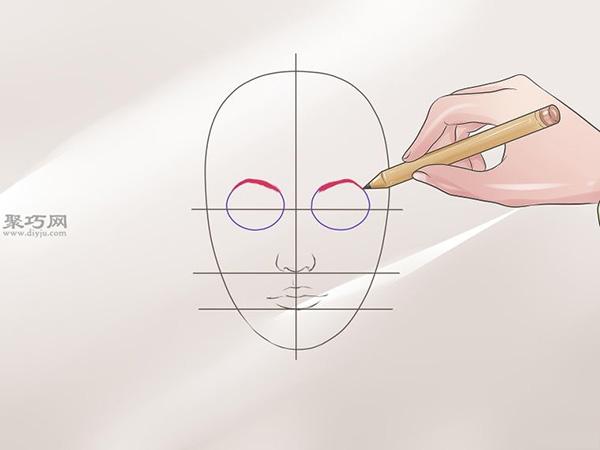 女性脸部素描画法教程 5