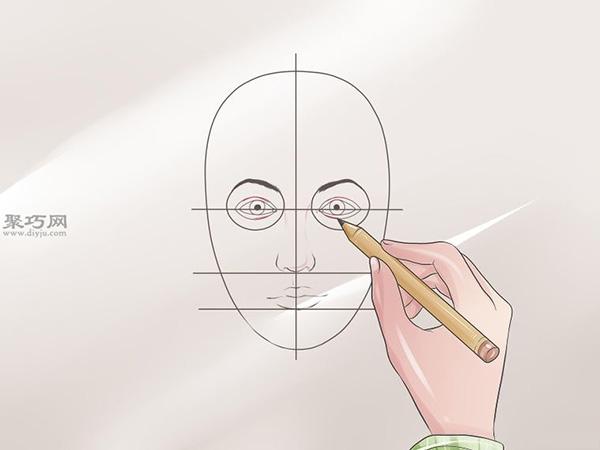 女性脸部素描画法教程 6