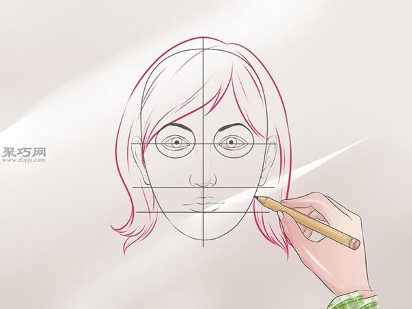 女性脸部素描画法教程 8