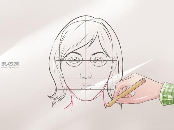 女性脸部素描画法教程 9