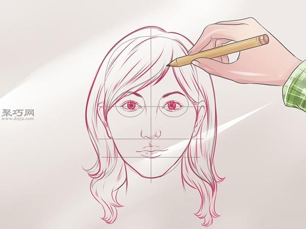 女性脸部素描画法教程 10