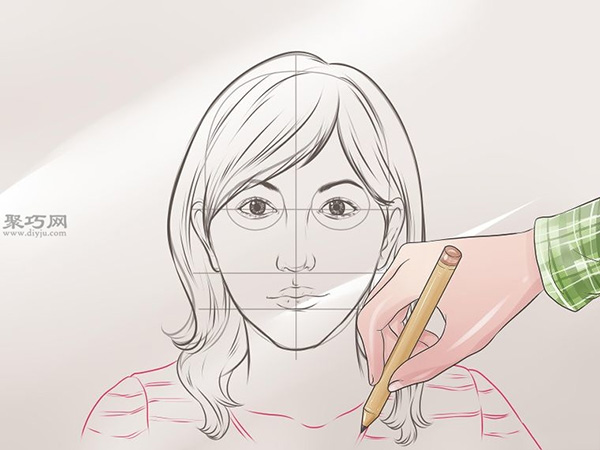女性脸部素描画法教程 11
