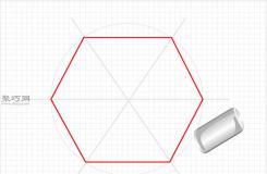 用尺子和圆形物体画六边形的画法 一起学画六边形步骤