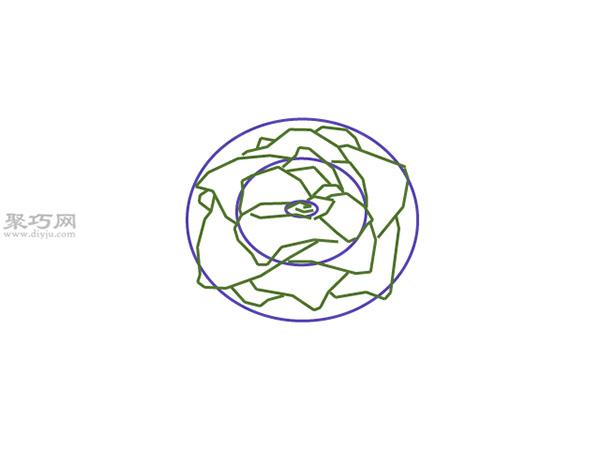 没有茎的玫瑰画法教程 3