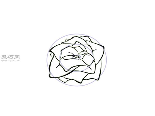 没有茎的玫瑰画法教程 4